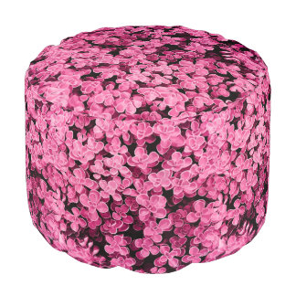 Pink Round Hedge - Flower Surface Texture Pouf