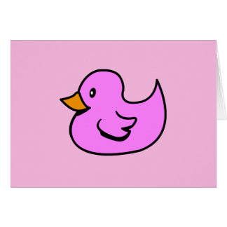 Pink Rubber Duck Card