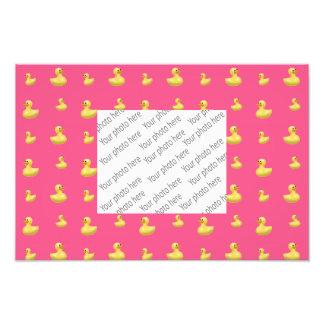 Pink rubber duck pattern photo print