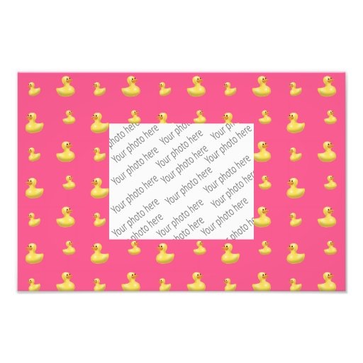 Pink rubber duck pattern photo