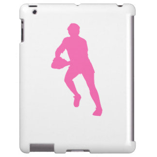 Pink Rugby Player Silhouette