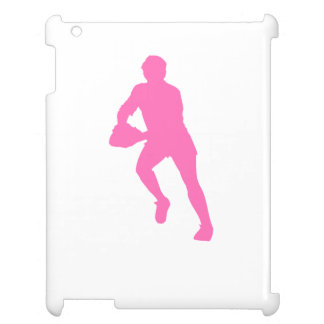 Pink Rugby Player Silhouette Case For The iPad 2 3 4