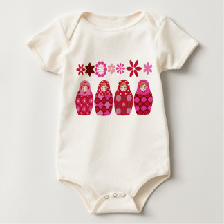 pink Russian headstock Baby Bodysuit