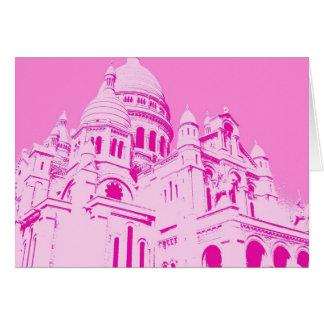 Pink Sacre Coeur 1 Card
