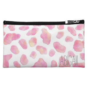 PINK SAFARI Pink Leopard Personalized Cosmetic Bag