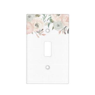 Pink & Sage Mint Green Modern Elegant Chic Light Switch Cover