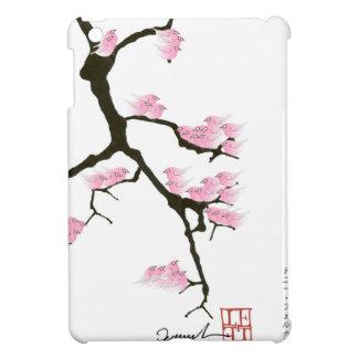 pink sakura and birds, tony fernandes iPad mini cover