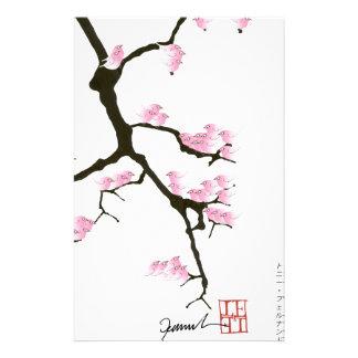 pink sakura and birds, tony fernandes stationery