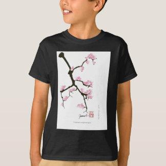 pink sakura and birds, tony fernandes T-Shirt