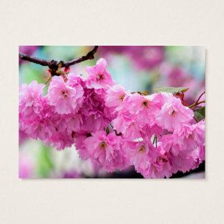 Pink Sakura Cherry Business Card