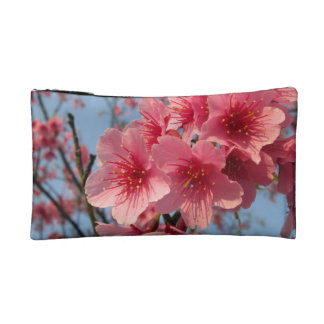 Pink Sakura Cherry Cosmetic Bag