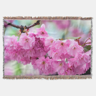 Pink Sakura Cherry Throw