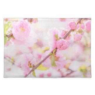 Pink sakura flowers - Japanese cherry blossom Place Mats