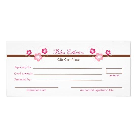 Pink sakura gift certificate template zazzleca for Zazzle gift certificate