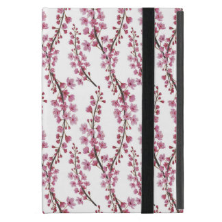 Pink sakura watercolor pattern case for iPad mini