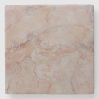 Pink Salmon Coral Marble Stone Finish Stone Coaster