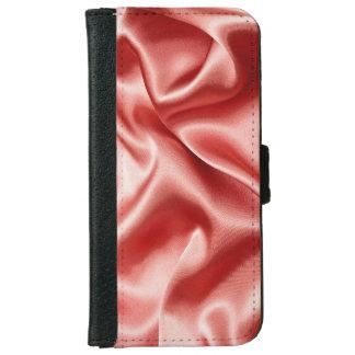 Pink/Salmon Draping Silk iPhone Wallet Case