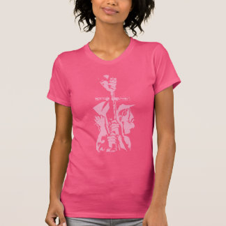 "Pink ""Salvation"" Stamped Shirt"