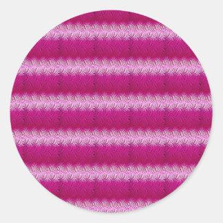 Pink samples round sticker