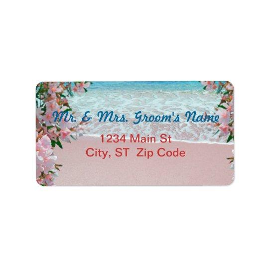 Pink Sand Beach Medium Address Labels