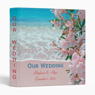 Pink Sand Beach Wedding Binder
