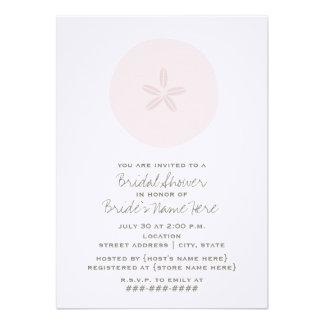 Pink Sand Dollar Bridal Shower Invitation