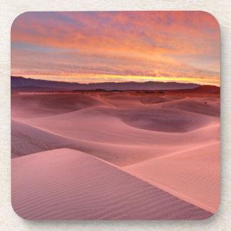 Pink sand dunes, Death Valley, CA Beverage Coaster