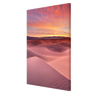Pink sand dunes, Death Valley, CA Canvas Print