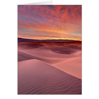 Pink sand dunes, Death Valley, CA Card