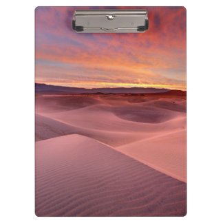 Pink sand dunes, Death Valley, CA Clipboards