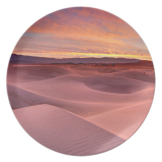 Pink sand dunes, Death Valley, CA Party Plate