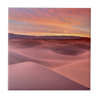 Pink sand dunes, Death Valley, CA Tile