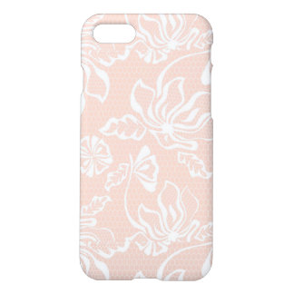 Pink Sand Lace Overlay Pattern with Netting Mesh iPhone 8/7 Case