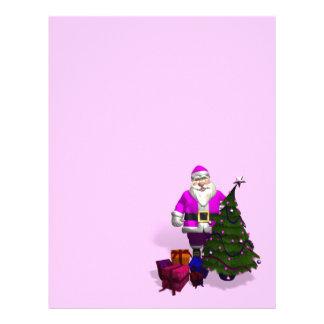 Pink Santa Claus Letterhead