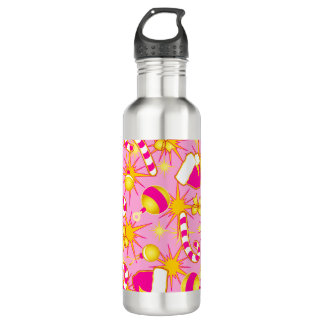 Pink - Santa's cap 710 Ml Water Bottle
