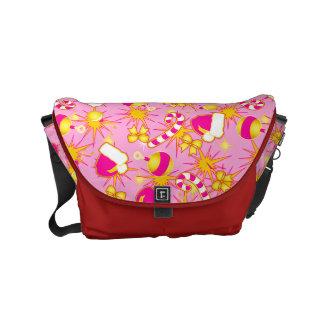 Pink - Santa's cap Commuter Bags