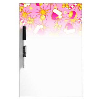Pink - Santa's cap Dry Erase Board