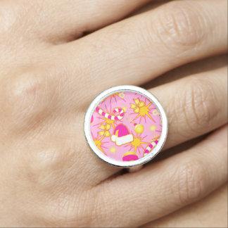 Pink - Santa's cap Rings