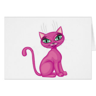 Pink Sassy Kitty Card