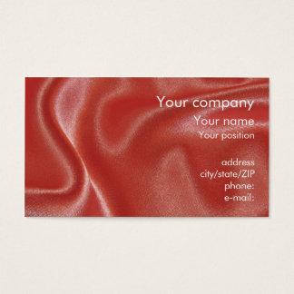"""""""Pink satin"""" business card"""