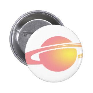 Pink Saturn 2 Inch Round Button
