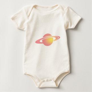 Pink Saturn Baby Bodysuit