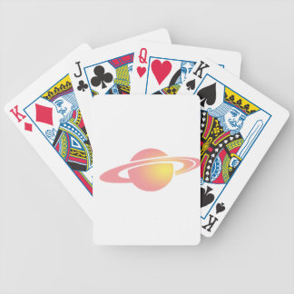 Pink Saturn Bicycle Playing Cards