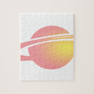 Pink Saturn Jigsaw Puzzle