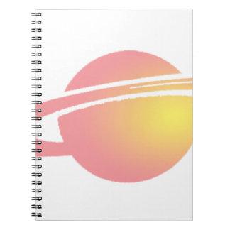 Pink Saturn Notebook