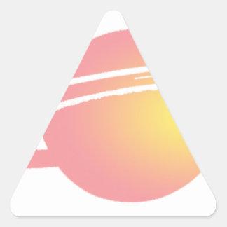 Pink Saturn Triangle Sticker