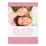 Pink Save the Date Wedding Template Personalized Announcements