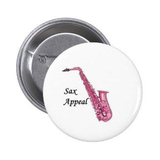 Pink Sax 2 Inch Round Button