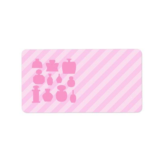 Pink Scent Bottles. Label