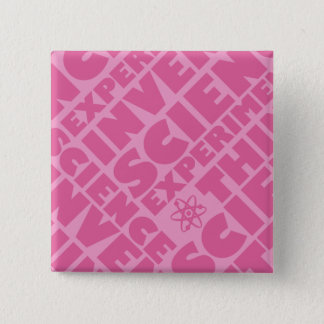 Pink Science 2 Inch Square Button